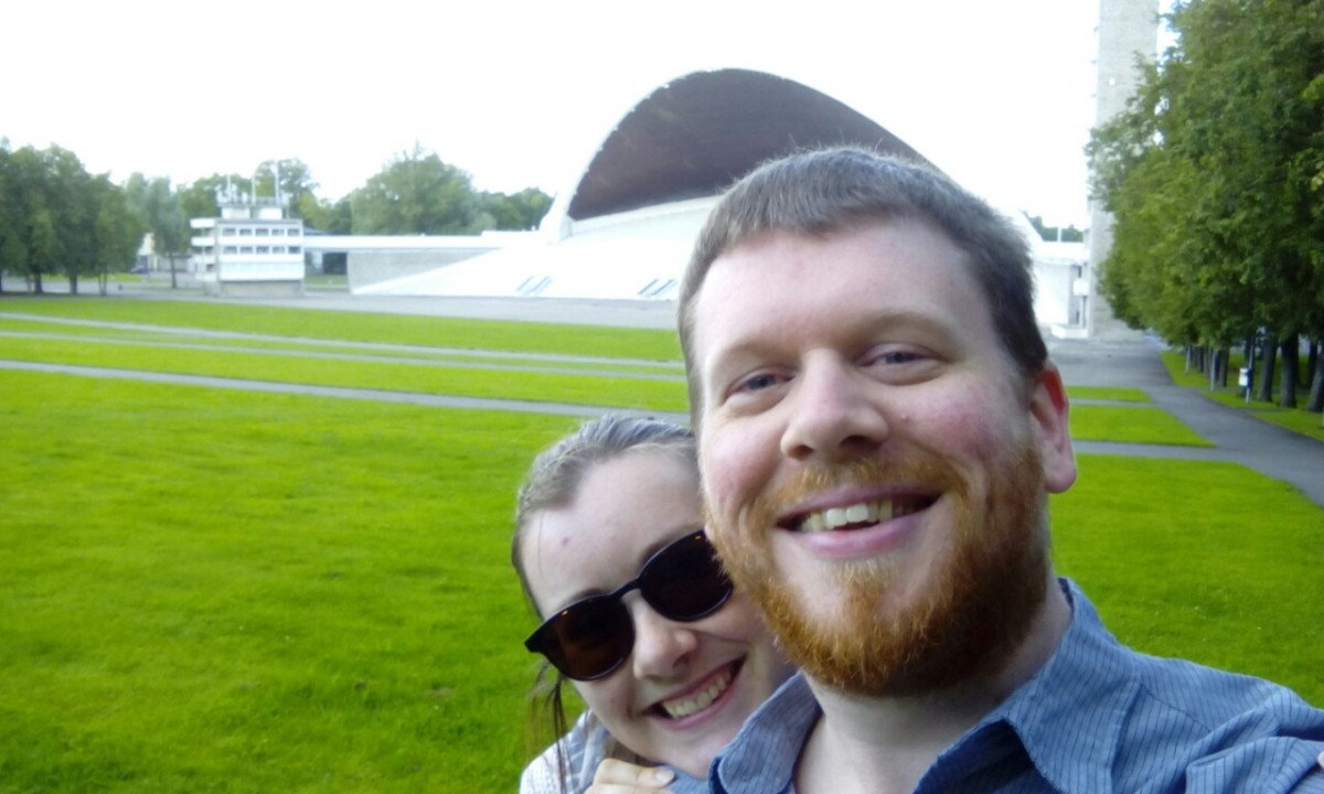 Mirjam and I at Estonia's Singing Festival grounds