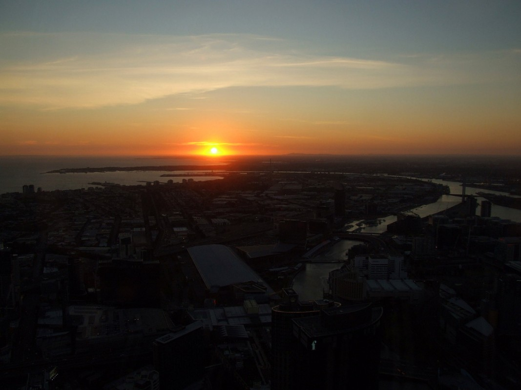 Sunset over Melbourne